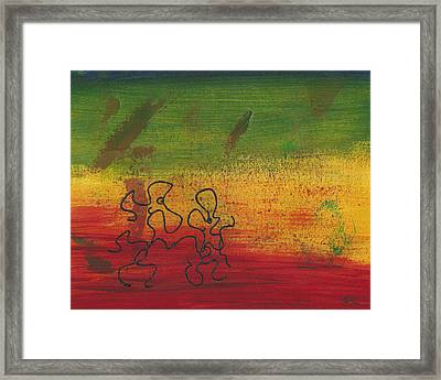 Dance Art Dancing Couple 28b Framed Print