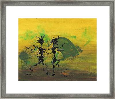 Dance Art Dancing Couple Ix Framed Print