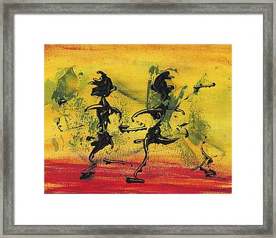 Dance Art Dancing Couple Viii Framed Print by Manuel Sueess