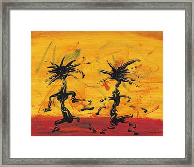 Dance Art Dancing Couple X Framed Print