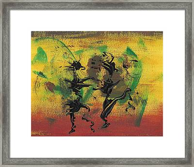 Dance Art Dancing Couple Xi Framed Print