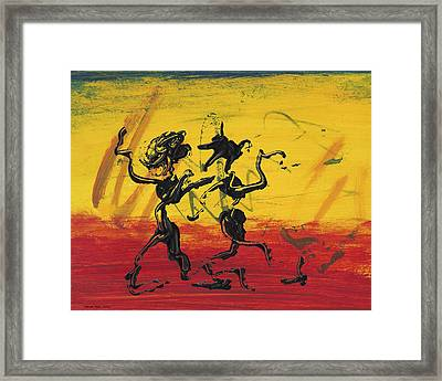 Dance Art Dancing Couple Xii Framed Print