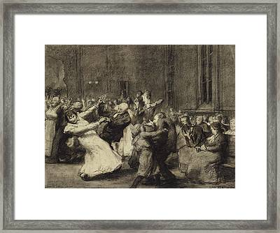 Dance At Insane Asylum Framed Print by George Wesley Bellows