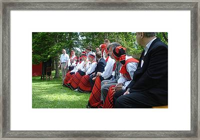 Dance Festival In Estonia Framed Print