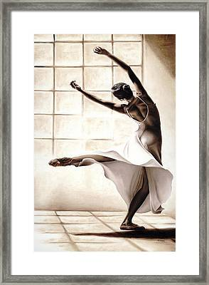 Dance Finesse Framed Print