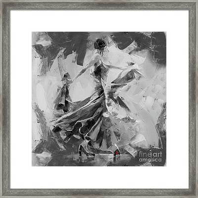 Framed Print featuring the painting Dance Flamenco 01 by Gull G