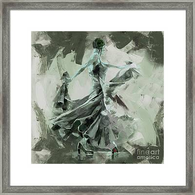Framed Print featuring the painting Dance Flamenco Art  by Gull G