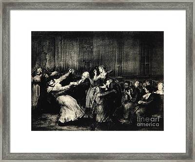 Dance In A Madhouse Framed Print by George Wesley Bellows