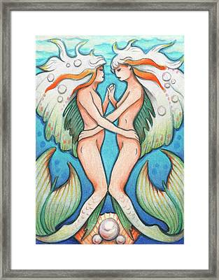 Dance In The Depths Framed Print by Amy S Turner