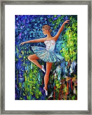 Dance In The Rain Of Color  Framed Print