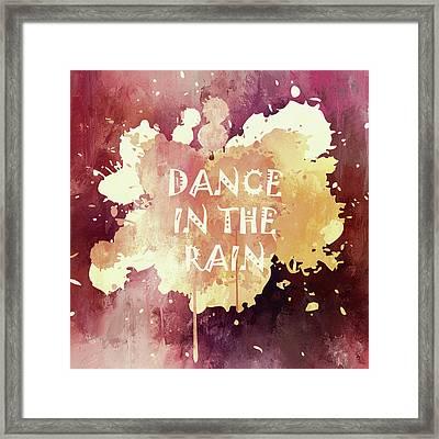 Dance In The Rain Red Version Framed Print
