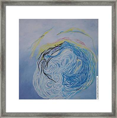 Dance In The Wave Framed Print
