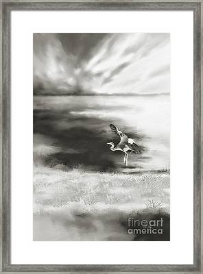 Framed Print featuring the digital art Dance Like Nobody's Watching by Lois Bryan