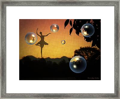 Dance Of A New Day Framed Print by Joyce Dickens