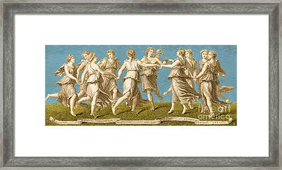 Dance Of Apollo With The Nine Muses Framed Print by Photo Researchers