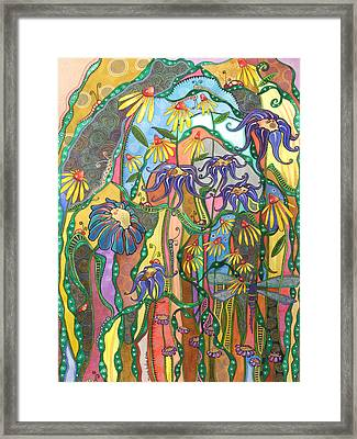 Framed Print featuring the painting Dance Of Life by Tanielle Childers