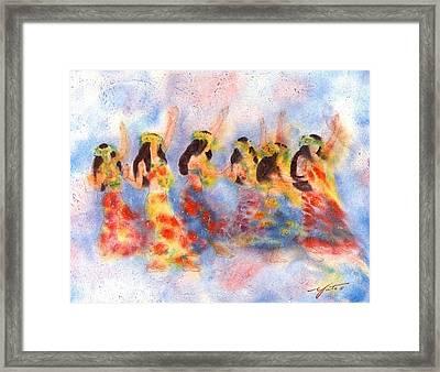 Dance Of Paradise Framed Print by John YATO