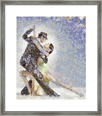 Dance Of Romance Framed Print by Shirley Stalter