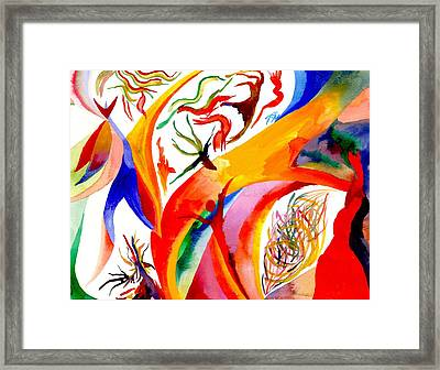 Dance Of Shaman Framed Print by Peter Shor