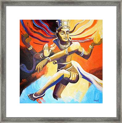 Dance Of Shiva Framed Print