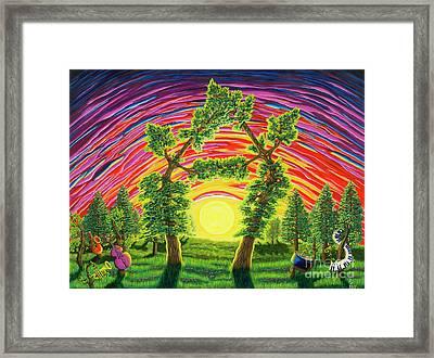 Dance Of Sunset Framed Print