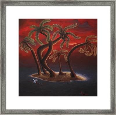 Dance Of The Coconut Palms Framed Print by Amanda Clark
