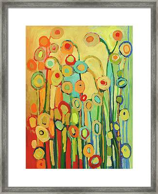 Dance Of The Flower Pods Framed Print by Jennifer Lommers