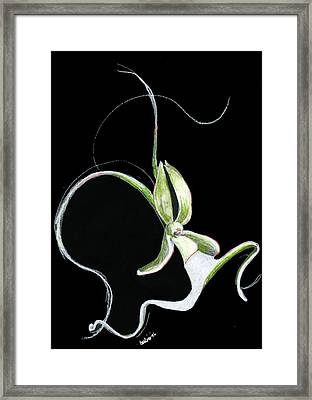 Dance Of The Ghost Orchid Framed Print by Carliss Mora