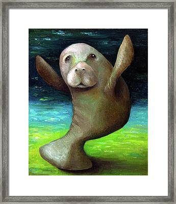 Dance Of The Manatee Framed Print by Leah Saulnier The Painting Maniac
