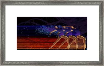 Dance Of The Moirai Framed Print