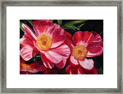 Dance Of The Peonies Framed Print