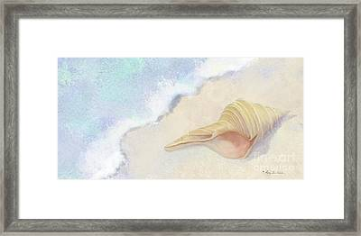 Dance Of The Sea - Australian Trumpet Shell Impressionstic Framed Print