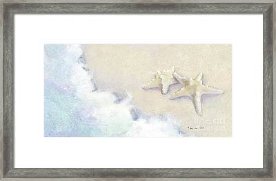 Dance Of The Sea - Knobby Starfish Impressionstic Framed Print