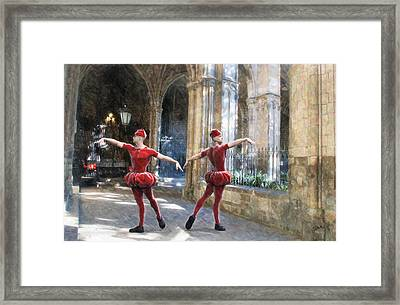 Dance Of The Swiss Guard Framed Print by Joaquin Abella