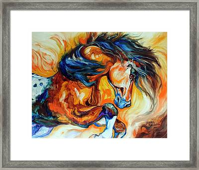 Dance Of The Wild One Framed Print