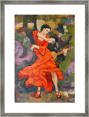 Dance Painting Carmen Framed Print by Alfons Niex