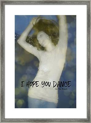 Dance Quote Framed Print by JAMART Photography