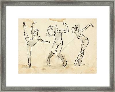 Dance Studies Framed Print by H James Hoff