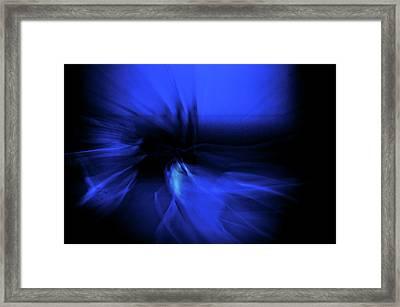 Dance Swirl In Blue Framed Print