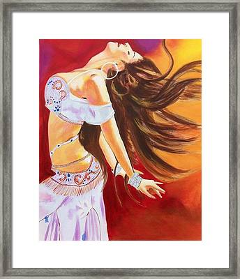 Dance To Be Free Framed Print by Yvonne Payne