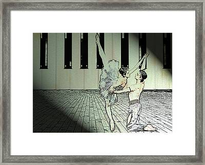 Dance To Express Your Thoughts Framed Print by Manjot Singh Sachdeva