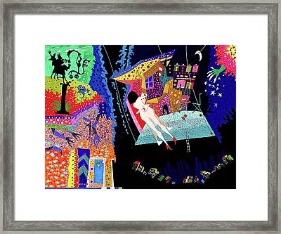 Dance While The Music Plays Framed Print by Johny Deluna