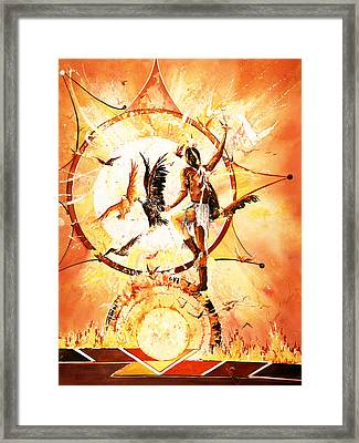 Dance With Eagles Framed Print