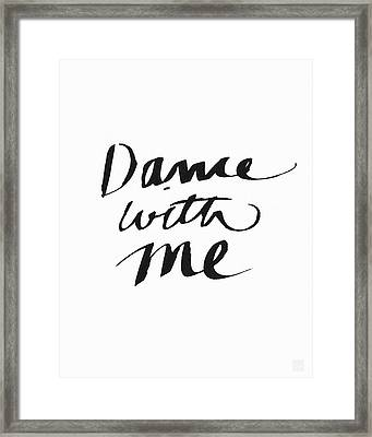 Dance With Me- Art By Linda Woods Framed Print by Linda Woods