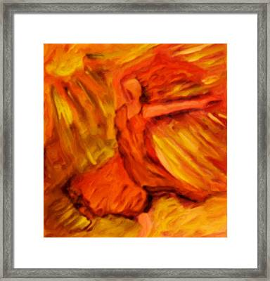 Dance With The Sun Framed Print by Shelley Bain