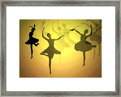 Dance With Us Into The Light Framed Print by Joyce Dickens