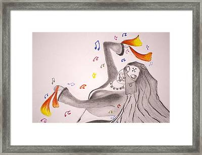 Dance With Veil II Framed Print by Jalal Gilani