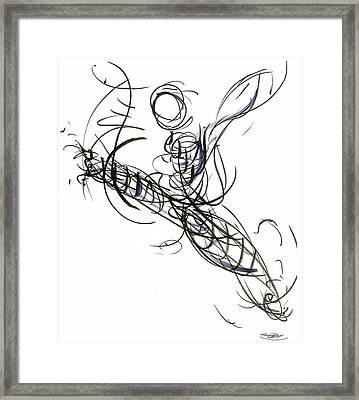 Dance Leap Force Framed Print by Laura Higgins Palmer