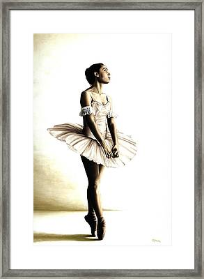 Dancer At Peace Framed Print by Richard Young