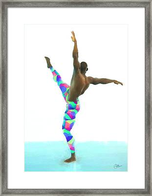 Dancer Colorful Framed Print by Quim Abella